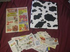 Large Coupon Organizer System Bessie Cow