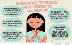 Momentos 'tediosos' que son perfectos para meditar | habitolicious Good Thoughts, Powerful Women, Virgo, Coaching, Mindfulness, Yoga, My Love, Life, Female Power