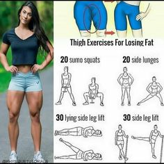"""Body_Fitness_Healthy on Instagram: """"Thigh exercises for losing fat! Follow us (@fitnessfor_health ) for the best daily workout tips 💪 . . . #fitness #fit #workouts…"""""""
