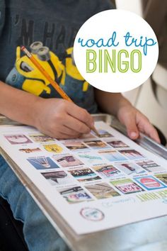 Keep the kids observing and learning with Road Trip Bingo Scavenger Hunt for Kids.