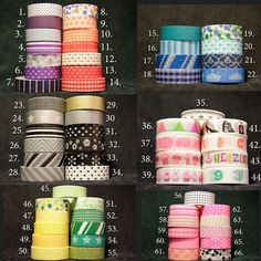 Washi Tape Blow out sale over 75 styles to choose from.  I'm sort of an addict.