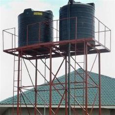 Water Tank Stand at Rs 95 /kilogram . Tree Stand Hunting, Tank Stand, Civil Construction, Metal Gates, Desk Setup, Stand Design, Welding Projects, Water Tank, Barrel