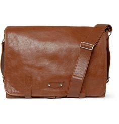 BalenciagaWide Leather Messenger Bag|MR PORTER