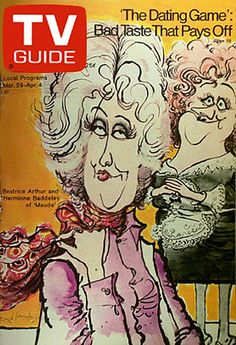 Maude (1972-1978, CBS) — TV Guide with Bea Arthur & Hermione Baddeley (1974–1977)