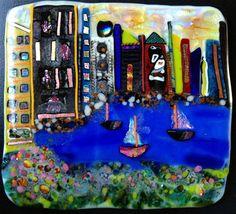 "Daily Paintworks - ""Boston Harbor"" by Kristen Dukat"