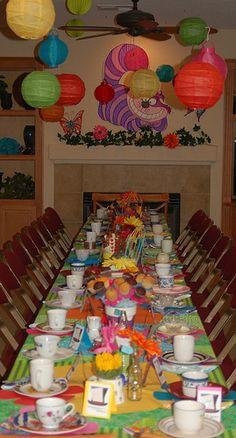 Sweet Sixteen Alice in Wonderland Birthday Party