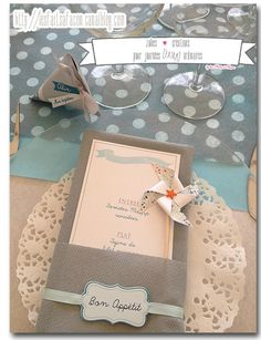 This Pin was discovered by Let's Be Wedding. Discover (and save!) your own Pins… Christening Party, Big Party, Centre Pieces, Diy And Crafts, Wedding Decorations, Creations, Stationery, Gift Wrapping, Scrapbook