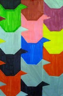 Kids Art Market: simple tessellation slide, flip, rotate
