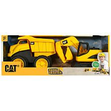 JP & JW - CAT Tough Tracks 2-Pack - Dump Truck and Excavator