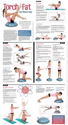 BOSU workout you can do at home to TORCH FAT!  from Pilates Style Magazine featuring Stephanie from Beautiful to the Core.