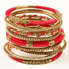 Red and Gold Bangles