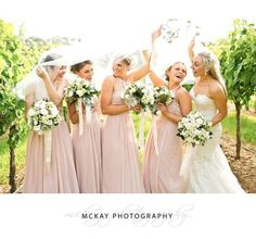 One of our all time favourite photos  Romy and her bridesmaids having so much fun under the veil in the grape vine rows at Centennial Vineyards Bowral #centennialvineyards #mckayphotography #bowralphotographer #bowralwedding #wedding #veil @centennialvineyards