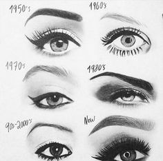 Evolution of eye looks, I'm still stuck in the 1950's and that's okay