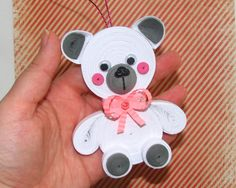 Christmas ornament Christmas tree toy Polar bear by QuillingLife