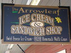 ARROWLEAF ICE CREAM & GRILL Ice cream, buffalo burgers, street tacos.... West Yellowstone Restaurants, West Yellowstone Montana, Buffalo Burgers, Freeze Ice, Yellowstone Vacation, Homemade Waffles, Sandwich Shops, Best Ice Cream, Vacation Places