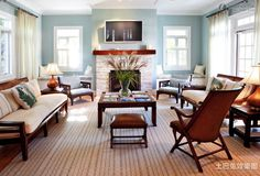 New American home style living room design pictures