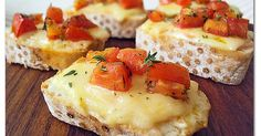 Bruschettas de Queijo com Tomates Marinados | Gastronomia and Blog
