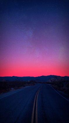 Horizon Mountains Sunrise Road - iPhone Wallpapers