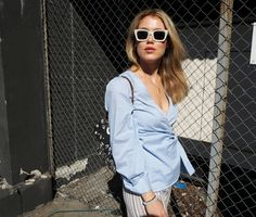 Blue striped shirt | Annabel