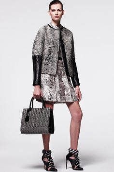 Wear this head to toe mismatched matching print set jacket and skirt with amazing zebra furred ankle jewelry heels as you read Gielgud's biography and pine for great art. J. Mendel | Pre-Fall 2014 Collection | Style.com