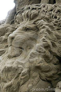 Lion Sand Sculpture