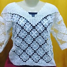Weaving, Embroidery, Knitting, Shirts, Clothes, Women, Fashion, Lace Blouses, Diy And Crafts