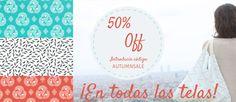 Comprar tejidos ecológicos estampados en Positive fabrics telas eco!