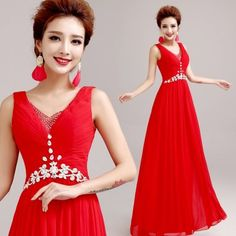 Long Wedding Dresses Red bride wedding evening dress wedding long 2015 new spring in Long Wedding Dresses Online Shopping Sites http://www.allymey.com