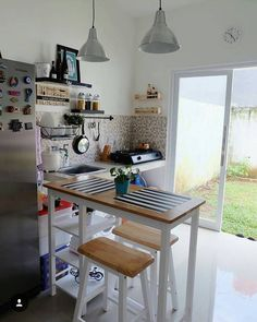 Kitchen sets, kitchen decor, modern farmhouse kitchens, home kitchens, Dining Room Design, Simple Kitchen Design, Home Decor Kitchen, Farmhouse Kitchen Design, Simple Kitchen, Scandinavian Kitchen, Modern Dining Room Set, Stylish Small Kitchen, Home Decor