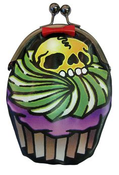 Kreepsville 666 Cupcake Skull Purse