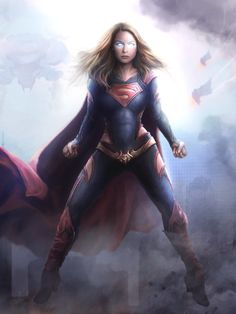 FanArt of Melissa Benoist as Supergirl with my redesign. Heros Comics, Dc Comics Characters, Dc Comics Art, Marvel Dc Comics, Marvel Heroes, Marvel Girls, Comics Girls, Supergirl Superman, Batgirl