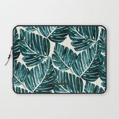 Jungle Leaves Laptop Sleeve by CRYSTAL WALEN | Society6