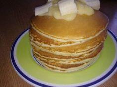 Pancakes (clatite americane), Rețetă Petitchef Sweet Tooth, Pancakes, Cookies, Breakfast, Food, Puddings, Drinks, Sweets, Banana