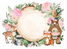 Baby Animal Drawings, Cute Drawings, Woodland Theme, Woodland Baby, Woodland Creatures, Woodland Animals, Bambi Disney, Baby Art, Baby Scrapbook