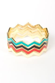 Chevron Bangle Set