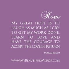 My Beautiful Words.: My Great Hope...