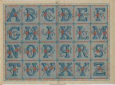Hundreds of cross stitch alphabets