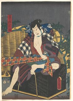Designed by Utagawa Kunisada I and his school   Period: Edo period (1615–1868) Date: 19th century Culture: Japan Medium: Polychrome woodblock print; ink and color on paper