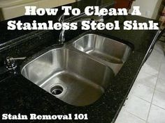 How To Clean Stainless Steel Sink: Tips & Tricks Deep Cleaning Tips, House Cleaning Tips, Cleaning Hacks, Kitchen Cleaning, Clean Fridge, Clean Dishwasher, How To Clean Granite, Bar Keepers Friend, Thing 1