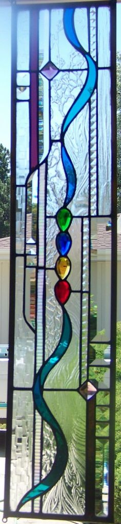stained glass and bevel window