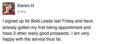 Real BoldLeads reviews from clients.