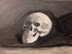 Skull. Oil painting