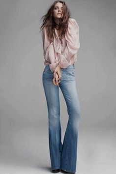 31a554e747a2 Silky Smooth—A flowing silk shirt is an easy way to take your flares from
