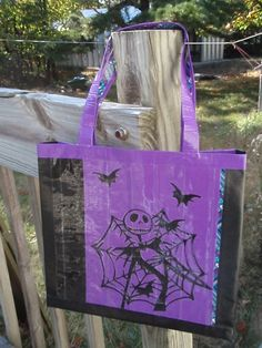 Nightmare before Christmas purse - Jack Skellington - duct tape purse duck tape purse tote