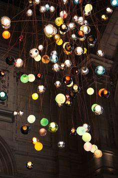28 Series light installation by Omer Arbel at the V&A - London Design Festival - photo Caroline Rankin