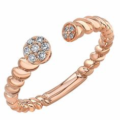 $299.99   Round Brilliant 0.09 ctw VS2 Clarity, I Color Diamond 14kt Stackable Band