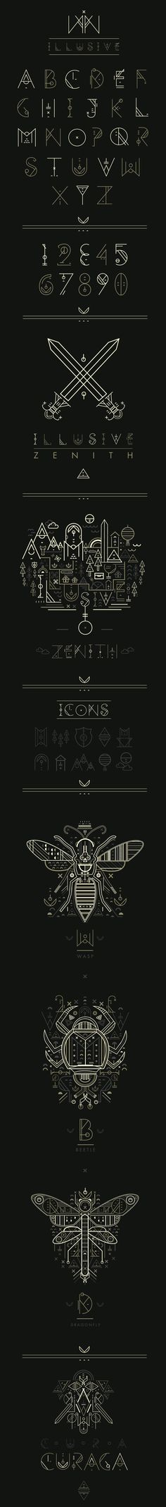 Design by studiosap, via Behance | #typography #design #alphabet The shapes and lines really go together and I love everything the typeface offers.