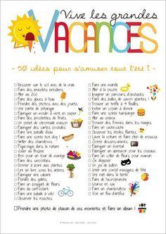 50 activités pour les vacances