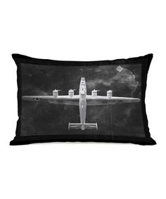 This Black & White Aircraft Inverted Throw Pillow is perfect! #zulilyfinds