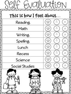 I cannot believe how fast this school year has gone so far.  We started scheduling Parent Teacher Conferences and I wanted to try some Student Self Evaluation this year. I created this FREEBIE packet